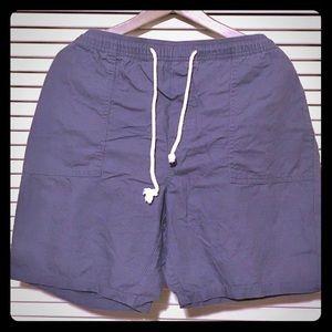 New Target Merona Cotton Tie Shorts Pockets